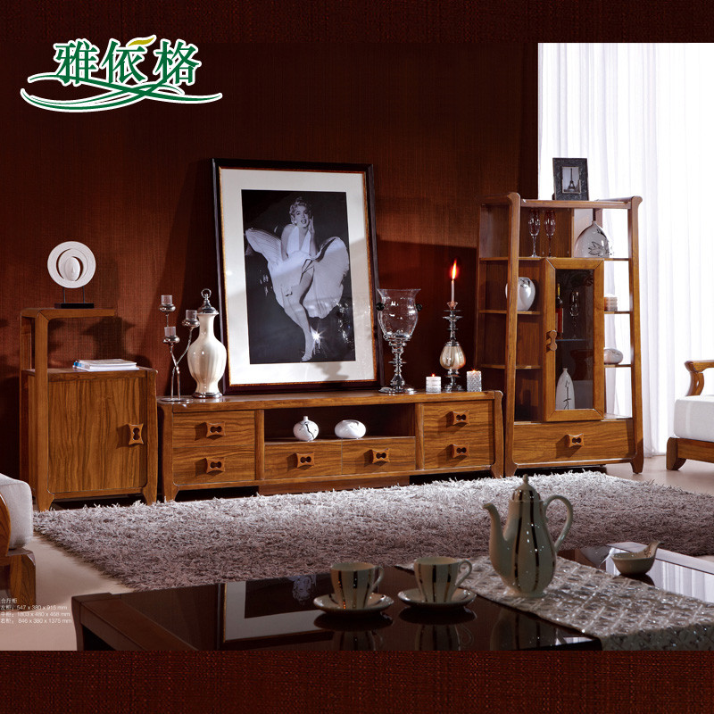 贝多芙 手扫漆框架结构乌木成人现代中式 电视柜