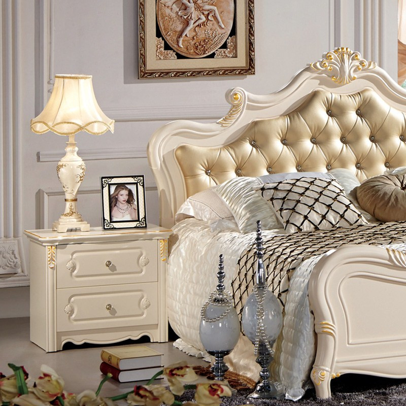 艾圣伊 床头柜框架结构香樟木储藏成人欧式 床头柜