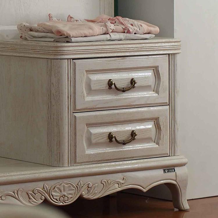 睿贝拉 白色(图片色)木水曲柳置地方形欧式 穿衣镜
