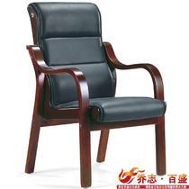 牛皮西皮固定扶手实木脚皮艺 QZ-T01扶手椅