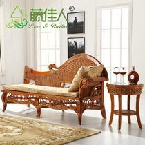 左右可以改缠接植物藤面料工艺竹藤工艺移动麻海绵各国风情地中海 贵妃椅