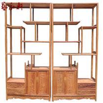 单个一对榫卯结构框架结构花梨木储藏植物花卉明清古典 博古架