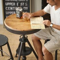 铁艺支架结构旋转艺术美式乡村 咖啡桌