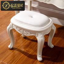 象牙白+描银(现货)成人欧式 梳妆凳