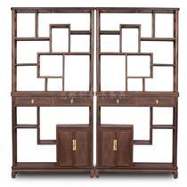 榫卯结构框架结构鸡翅木储藏明清古典 博古架