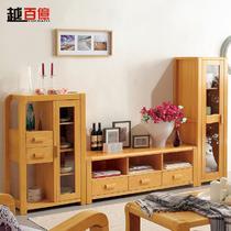 组合高+中+低框架结构榉木拆装艺术现代中式 地柜