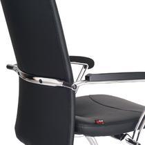 黑色金属固定扶手钢制脚皮艺 扶手椅