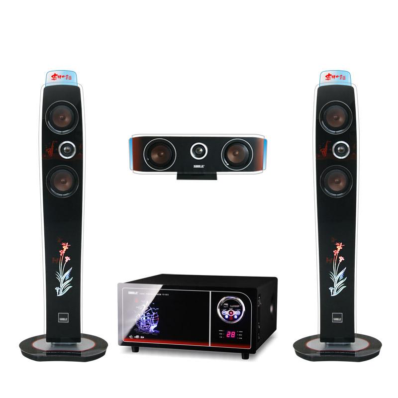狮乐 仅有功放无碟机模拟传输数字传输混合Video木6.5寸20Hz-20KHz3D DSP模式全国联保平板式 家庭影院