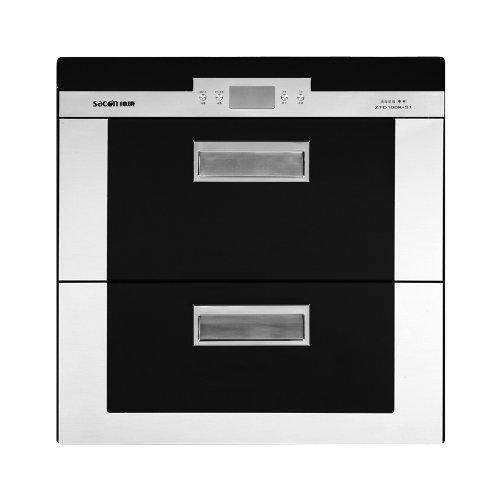 帅康 黑色≤75℃二级臭氧、紫外线消毒钢化玻璃机械控制 消毒柜