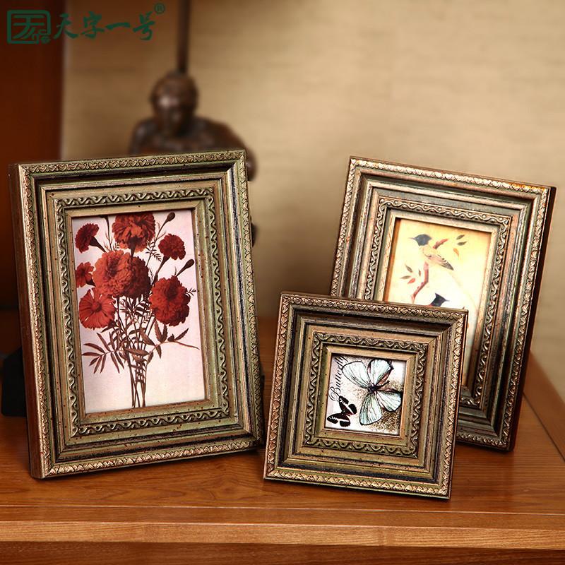 天字一号 实木雕花相框长方形欧式 相框