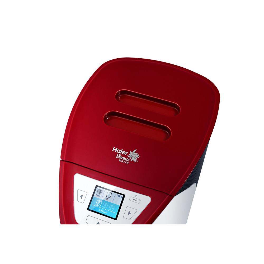 海尔 酒红色温热台式 饮水机