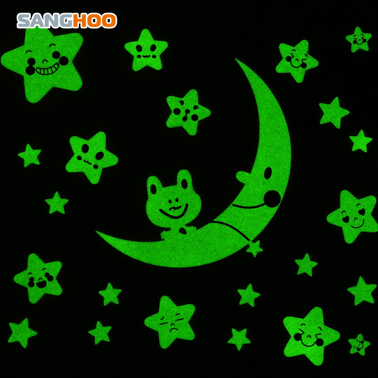 三合 星星夜光贴墙贴