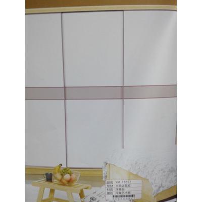 鑫众钻牌韩国pu实木平板衣柜移门加厚1.8铝合金边框