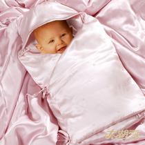 浅绿浅粉丝绸蚕丝 婴儿睡袋