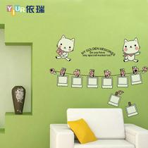 小猫相册平面墙贴卡通动漫 墙贴