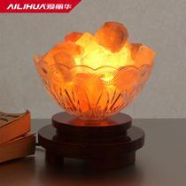 调光开关玻璃木现代中式热弯白炽灯 盐灯
