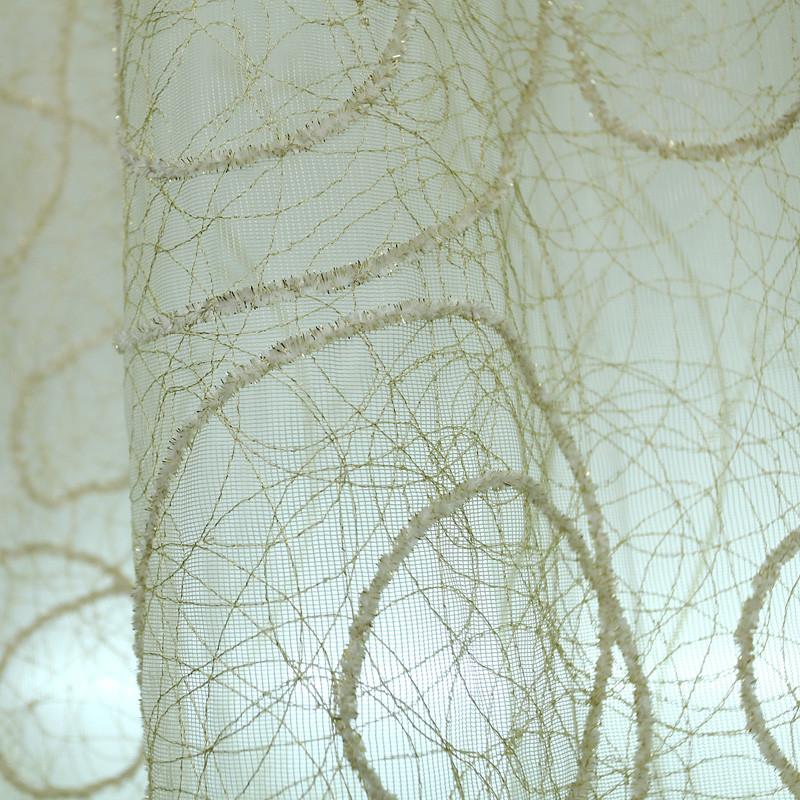 一米 一米外纱一米内纱装饰+半遮光平帷荡度涤纶混纺简约现代 窗帘