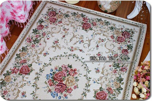 爱尚家 混纺植物花卉长方形机器织造 90140mg地毯