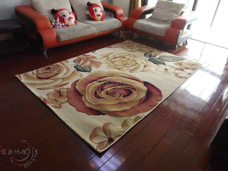博奕地毯 BOYIDITAN 简约现代植物花卉长方形 地毯