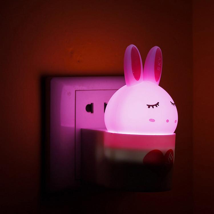 宜视 黄色绿色粉红色白色led 小夜灯