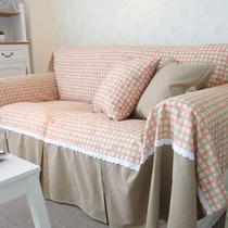 薇嘉拼接布植物花卉沙发巾双人座沙发田园 沙发罩