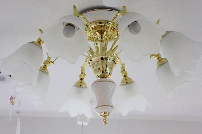 松下 玻璃简约现代白炽灯节能灯 吸顶灯