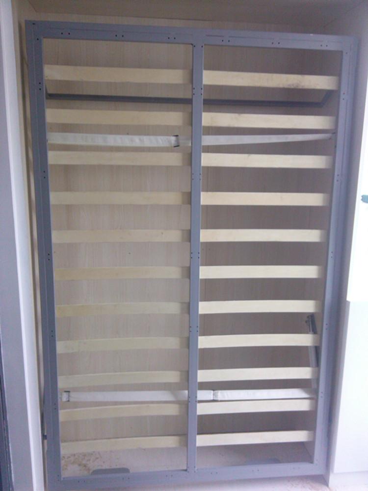 青韵化蝶 拼板整装式架子床简约现代 pt-zh1200壁柜图片