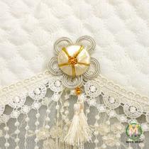 金盏花(米黄金丝)布简约现代 电视罩