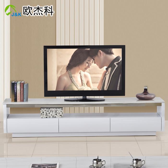 欧杰科 大理石电视柜人造板密度板/纤维板成人简约现代 电视柜
