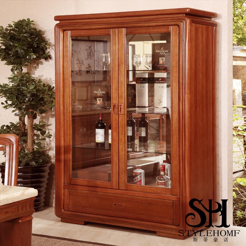 中式服装工作室装仺h㹨/_斯蒂豪诺 框架结构海棠木多功能艺术现代中式 b618酒柜