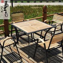 铁艺支架结构移动艺术田园 SM008咖啡桌