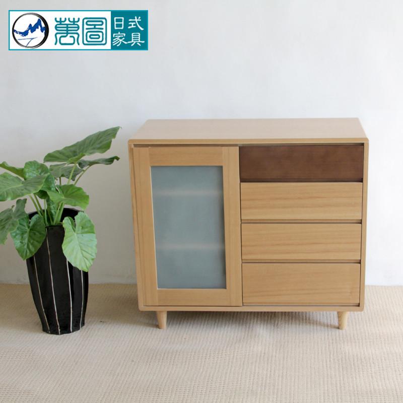 万图 木箱框结构多功能成人日式 斗柜