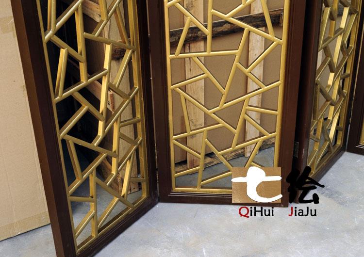 七绘 现货油漆工艺木质工艺喷漆榫卯结构现代中式 屏风