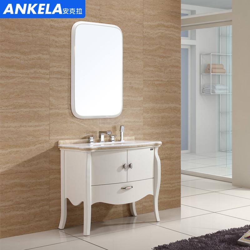 安克拉 橡木大理石台面e0级新古典 洗手盆