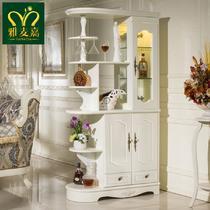 框架结构松木储藏植物花卉欧式 装饰柜