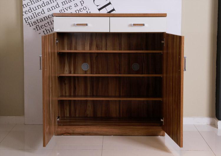 新悦 人造板刨花板/三聚氰胺板箱框结构储藏对开门简约现代 鞋柜