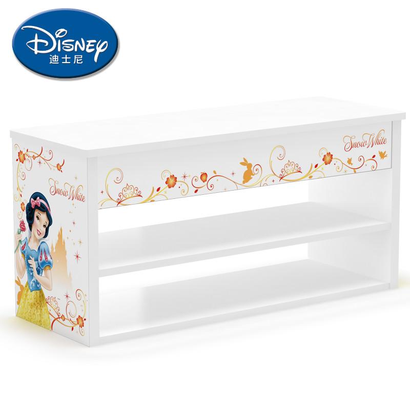 迪士尼 人造板刨花板/三聚氰胺板PVC框架结构储藏翻开门童趣/玩具简约现代 贝儿公主最美的时光翻盖鞋柜鞋柜