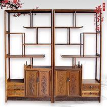 榫卯结构框架结构鸡翅木储藏品牌LOGO明清古典 博古架