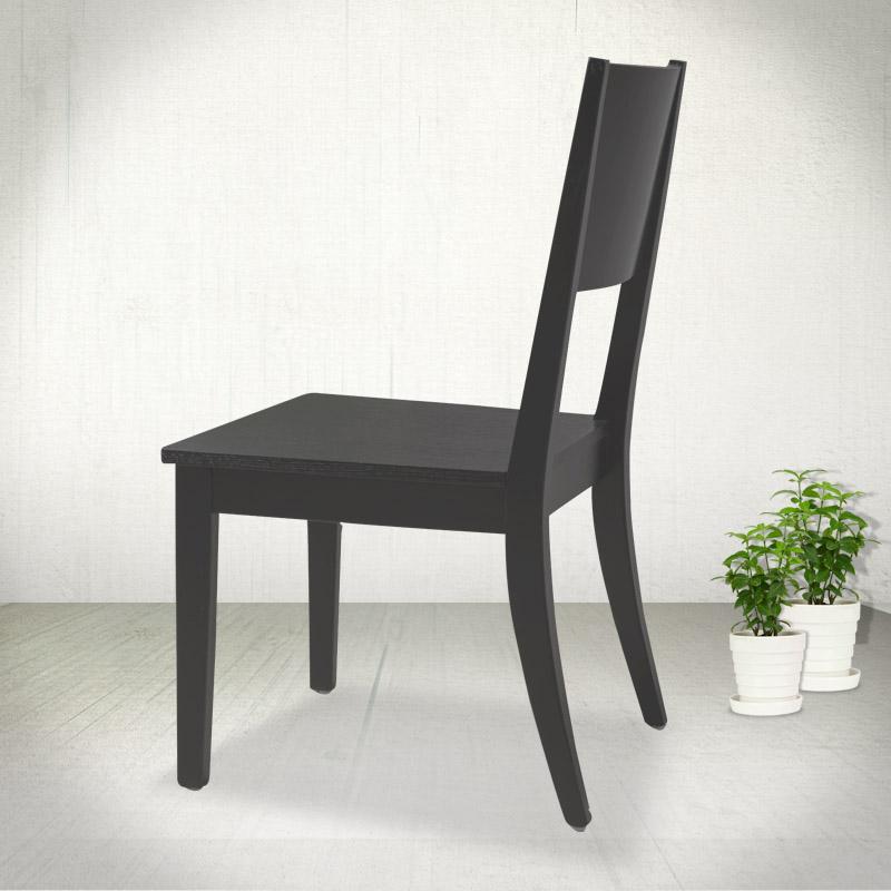 古娜可 纯实木黑色椅子实木皮饰面橡木移动成人简约现代 餐椅价格,