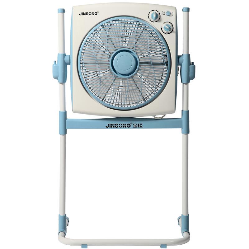 金松 灰色蓝色金松落地式转页扇交流电全国联保机械式落地扇 电风扇