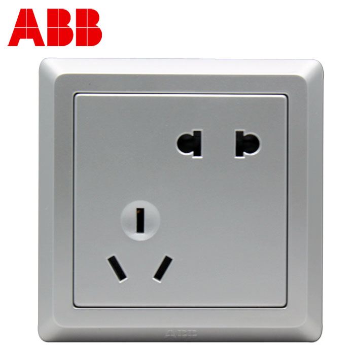 ABB 雅白86型二三插10A ABB 德逸 Equip AE205-S插座