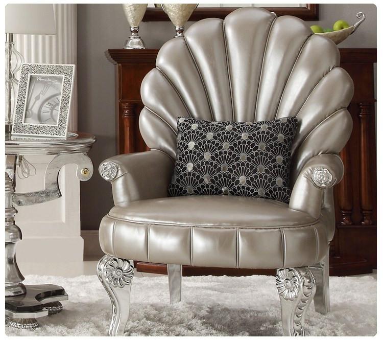 美煜 三件套单椅皮革高弹泡沫海绵艺术成人欧式 沙发椅