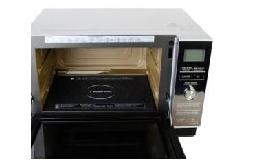 松下 银色微波炉手拉式透明平板式全国联保微波烧烤蒸汽电脑式 微波炉XPE 微波炉