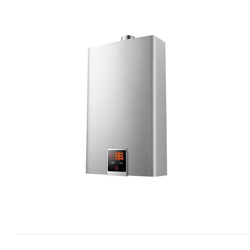 海尔 浅灰色强排式天然气全国联保 热水器价格,图片
