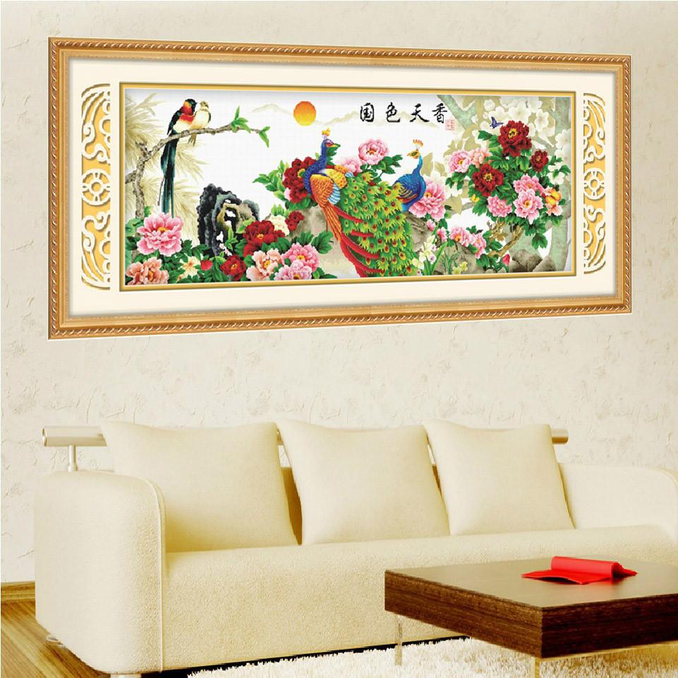 点彩 白色棉布成品动物图案家居日用/装饰现代中式 as135十字绣