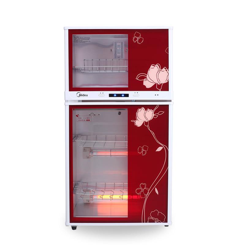 美的 全屏灰白玻璃二星级红外线双门钢化玻璃 消毒柜
