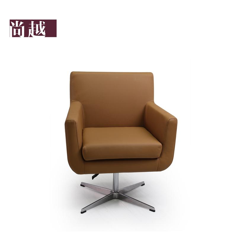 圆形底座十字底座金属不锈钢中密度泡沫海绵成人简约现代 沙发椅