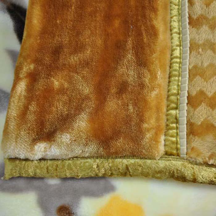 美雅 5%拉舍尔MT1823-4-2毛毯一等品冬季植物花卉简约现代 毛毯