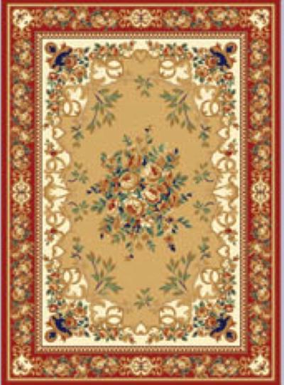 华德 化纤可手洗美式乡村丙纶植物花卉长方形中国风机器织造 TWKS168-1地毯