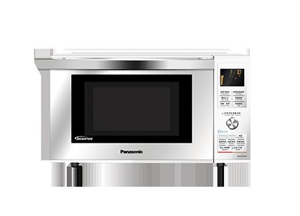 松下 银微波炉下拉门平板式全国联保微波烧烤电脑式 微波炉